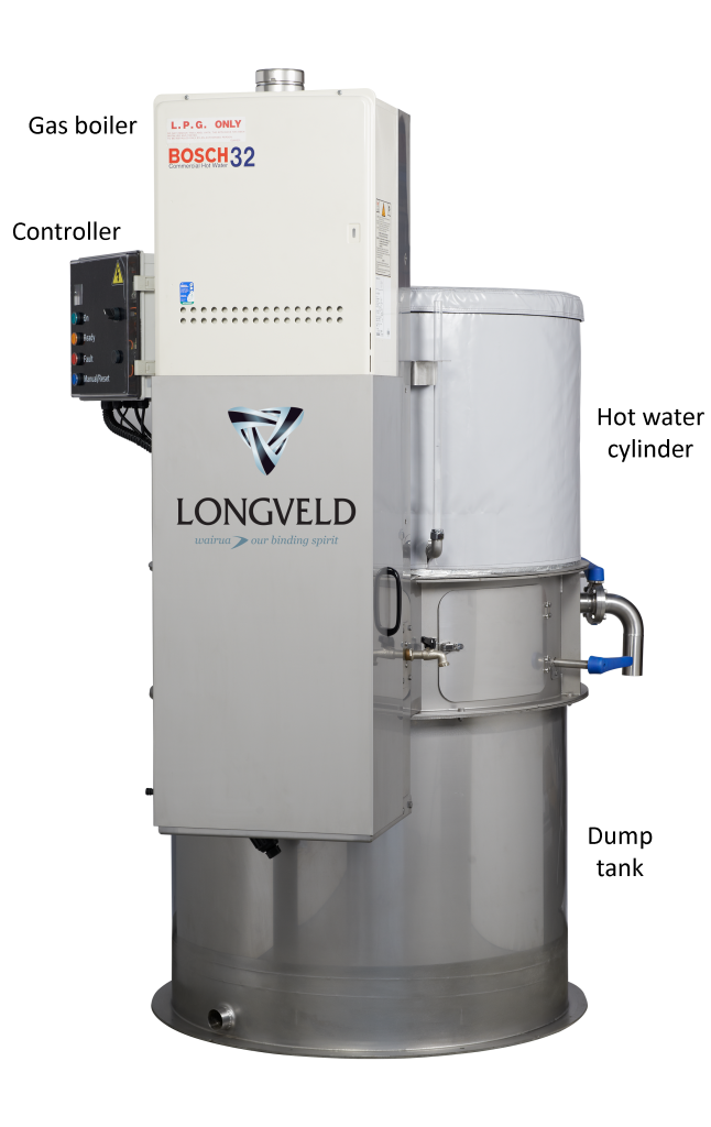 Longveld Stack Dairy Hot Water System